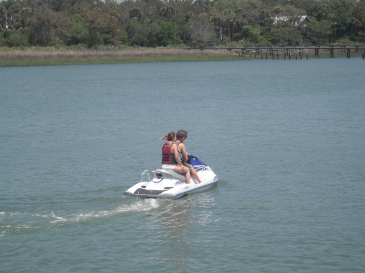 Enjoy all the low country waterways have to offer...jetski, kayak, paddle board, surfing, sailing, fishing...