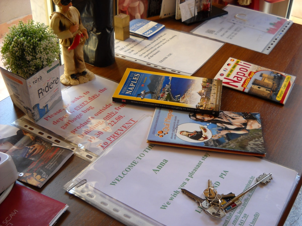 The guest will receive a guide of Naples in English, to visit, easily, the city.