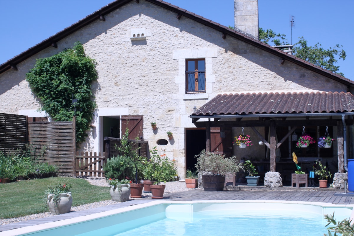 Gde maison-piscine, proche Brantôme