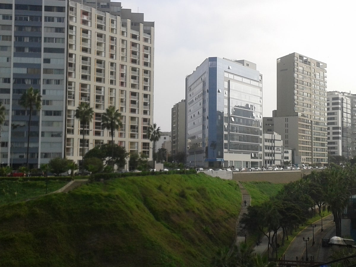 Panoramic View of Avenida Grau and down to the beach.