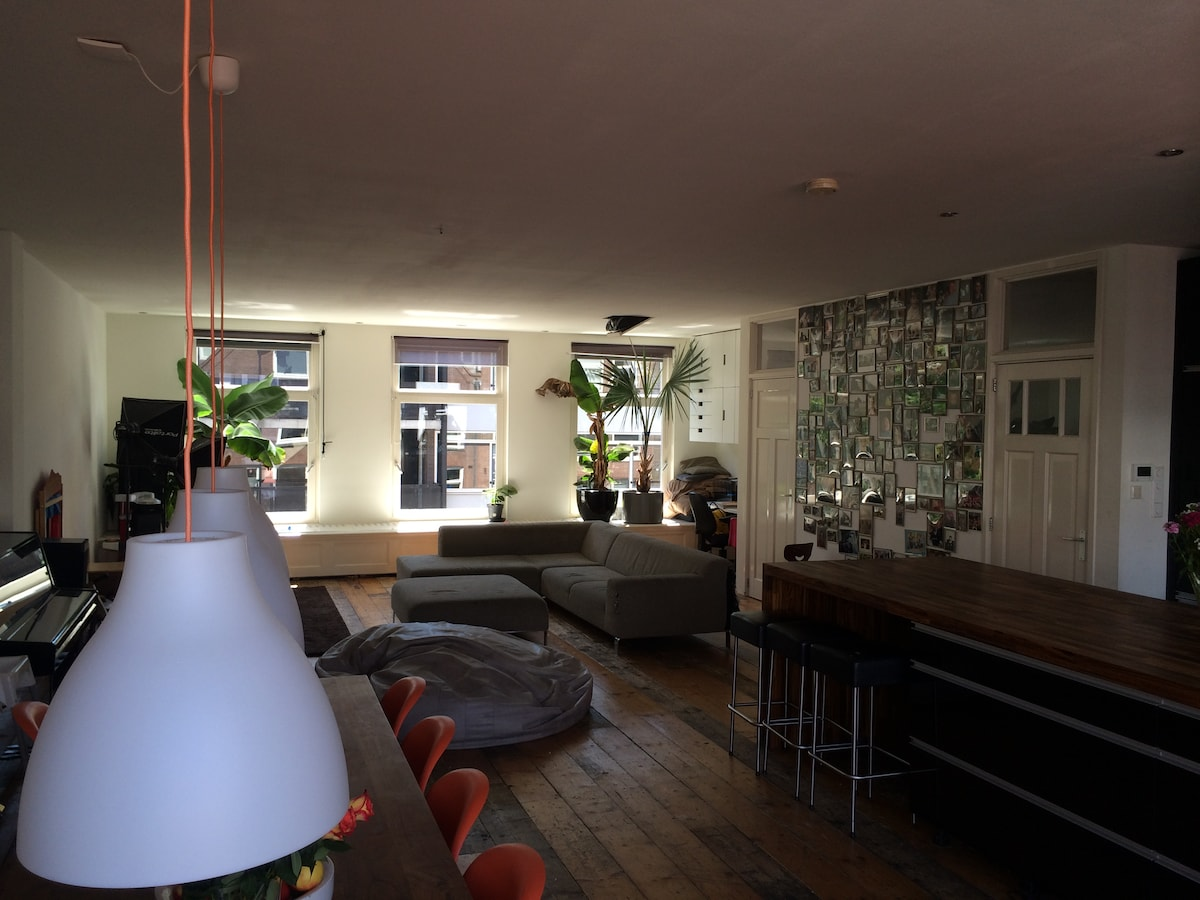 Our living room is light, sunny, very easy going and  kids friendly.