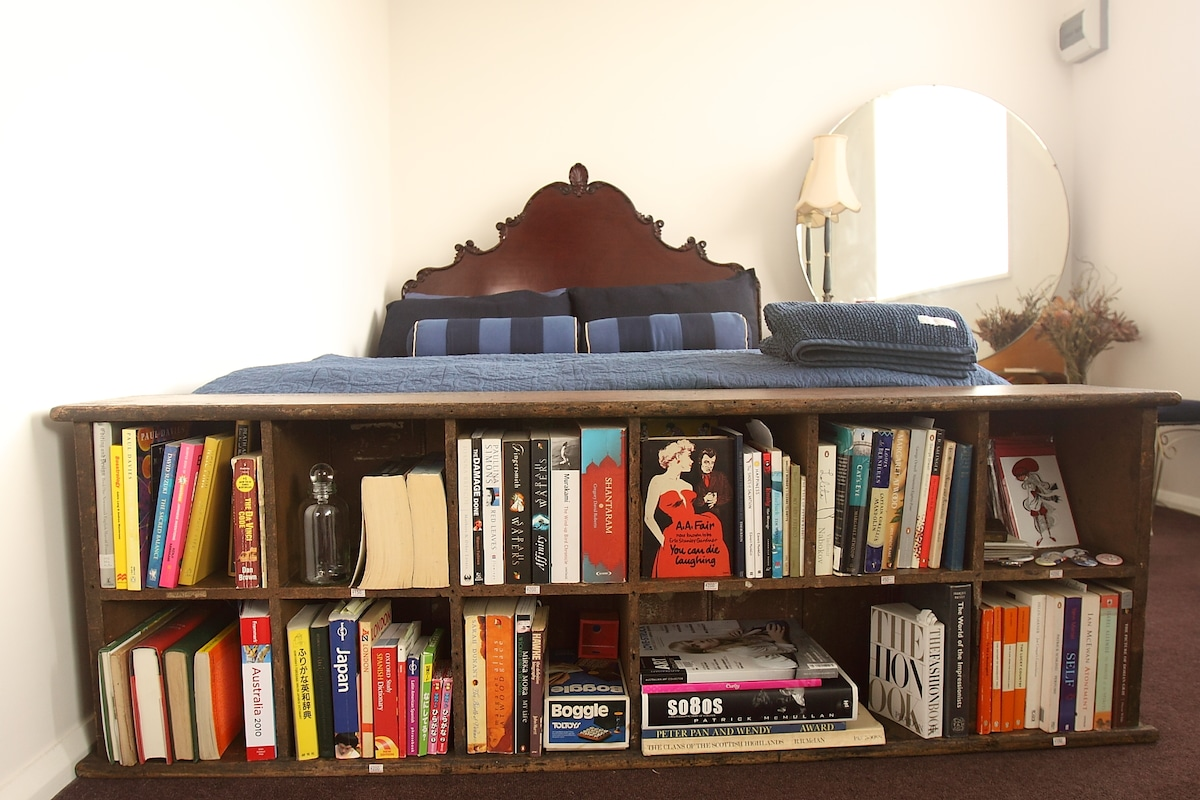 Books for guests to read (and Boggle to play!)