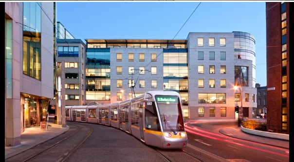 Luas (Green Line) tram Stop (Harcourt) just in front the door of the residence