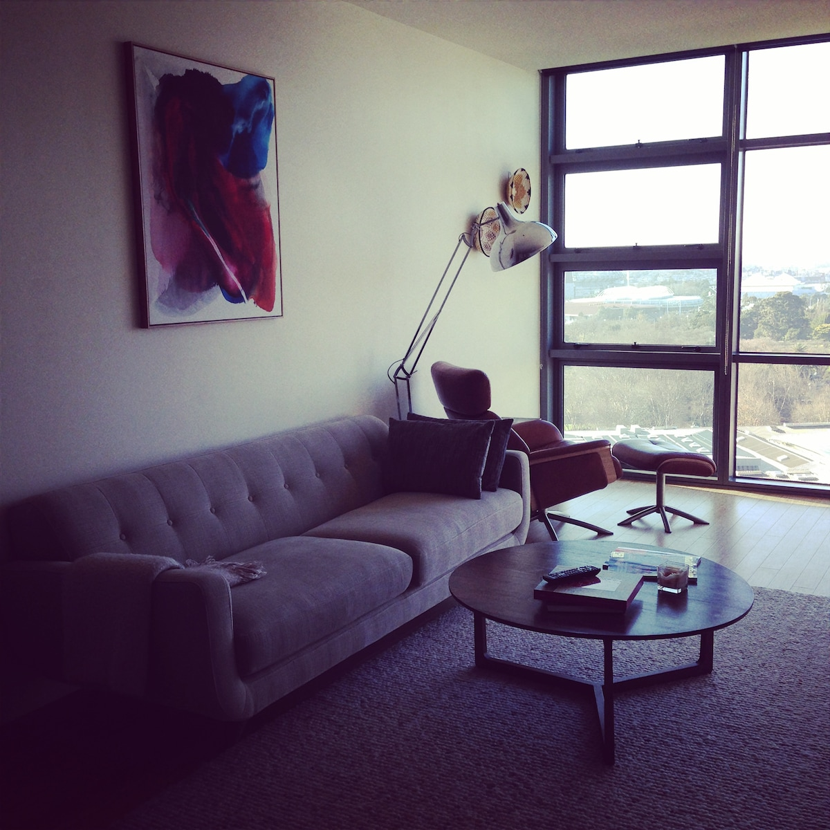 Living room with new furniture and deco