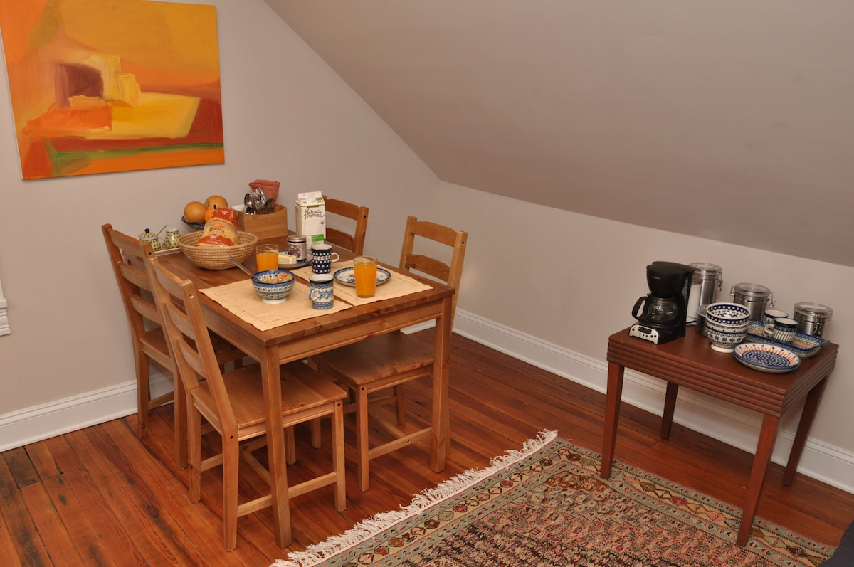 The Perch Suite is stocked with organic and fair trade breakfast goodies.