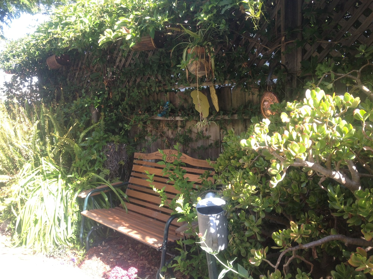 The garden is a great place to relax or study.  BBQ or enjoy tea, both shade and sunny spots.