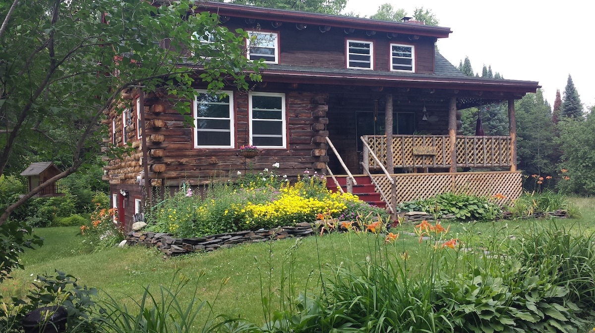 Spring and Summer are wonderful times to visit our log home! The song birds and wildlife are abundant.