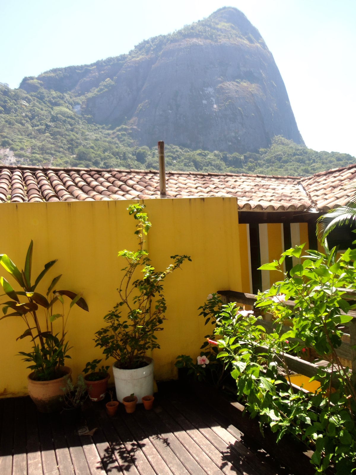 Front of home and View of Pedra da Gavea