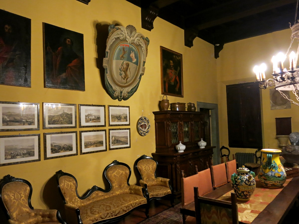 The the 500 years old Villa Main Hall