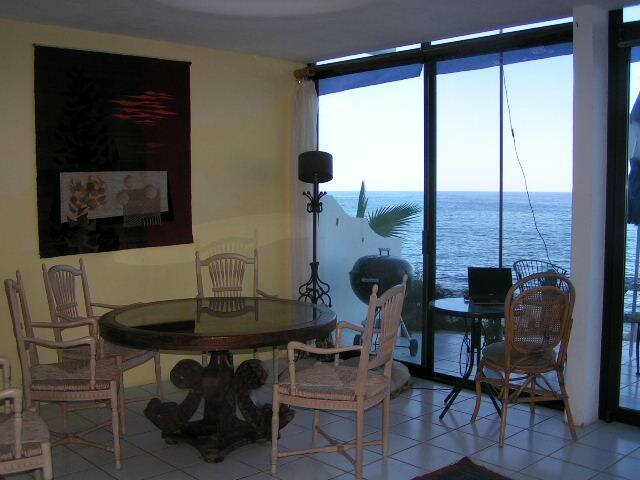 Dining Room right on the Sea of Cortez