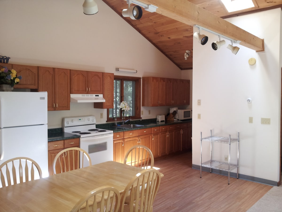 Large kitchen and eat-in area.