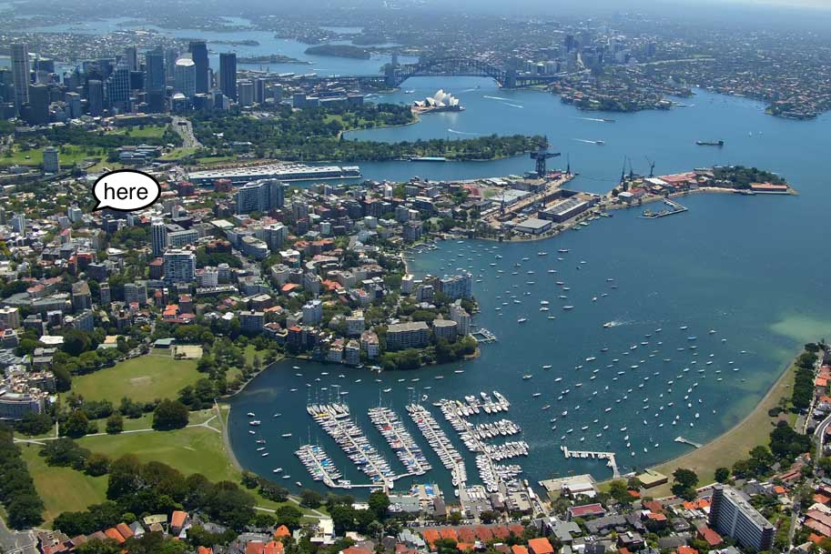 Potts Point is famous for its convenient location