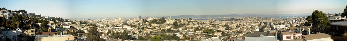 Breathtaking views from the living room. You will have panoramic views of San Francisco Bay Area!