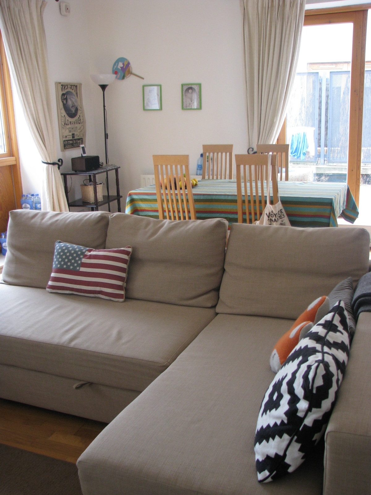 Our sofa can be converted to a double bed if you are more than 2 guests.