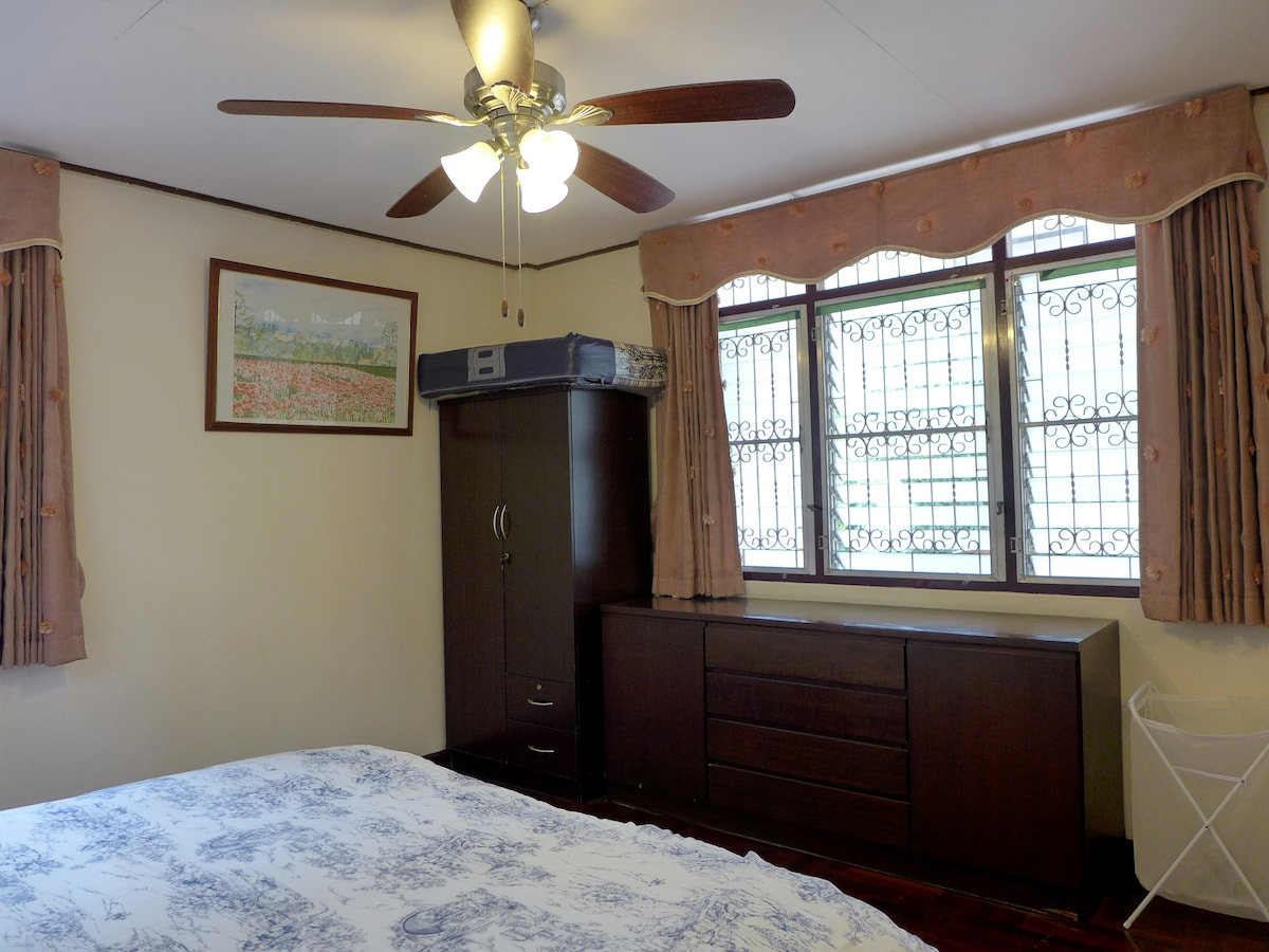Plenty of closet space for your storage. We also provide an extra mattress just in case you need it for an extra person.