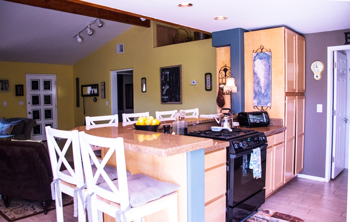 This wonderful has kitchen has everything you need.