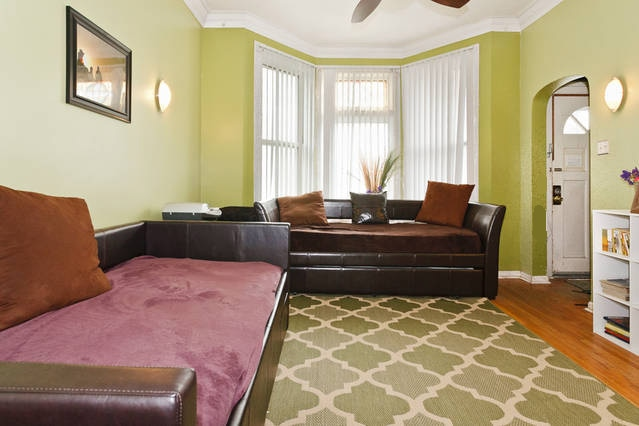 Living Room - Room includes 2 Daybeds,  2 trundles (all real mattresses) and one sofa.  Guest stay for 1 (or 2) nights sleep here
