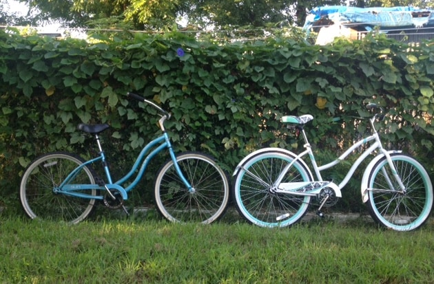 Two complimentary cruisers and locks for wheeling around town.