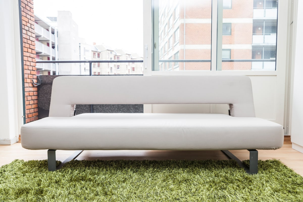 Very comfortable couch.  When the top is put in a horizontal position it's very comfortable for sleeping on.