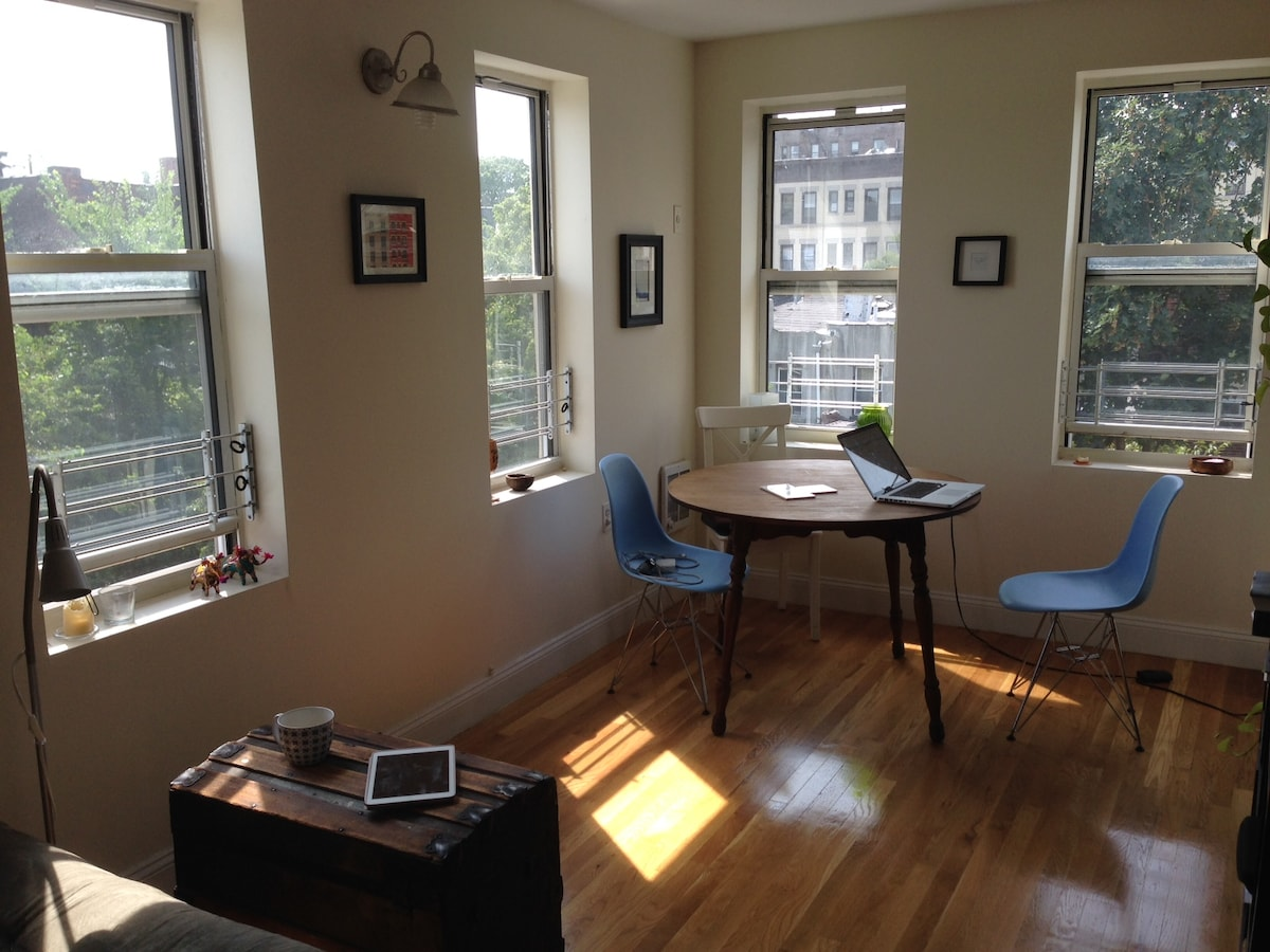 Large cozy 1br in Crown Heights