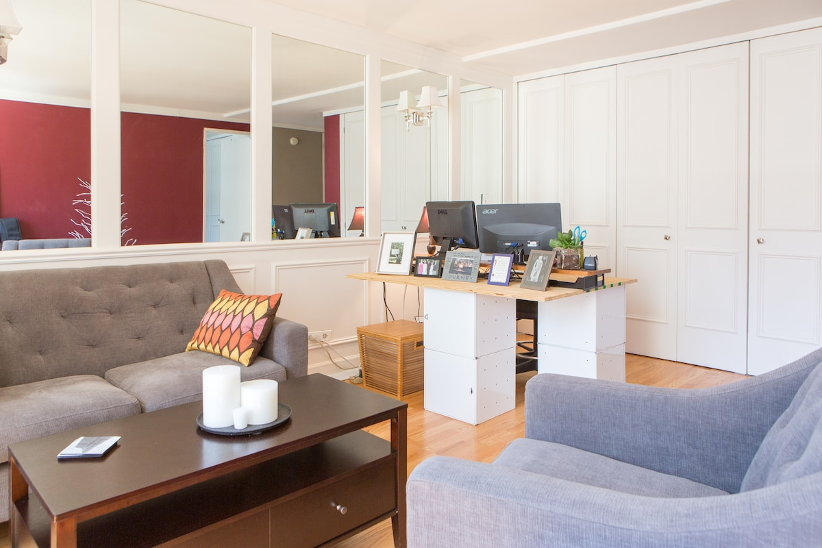 2/15: Sunny 1-bed 1 block off Mag Mile