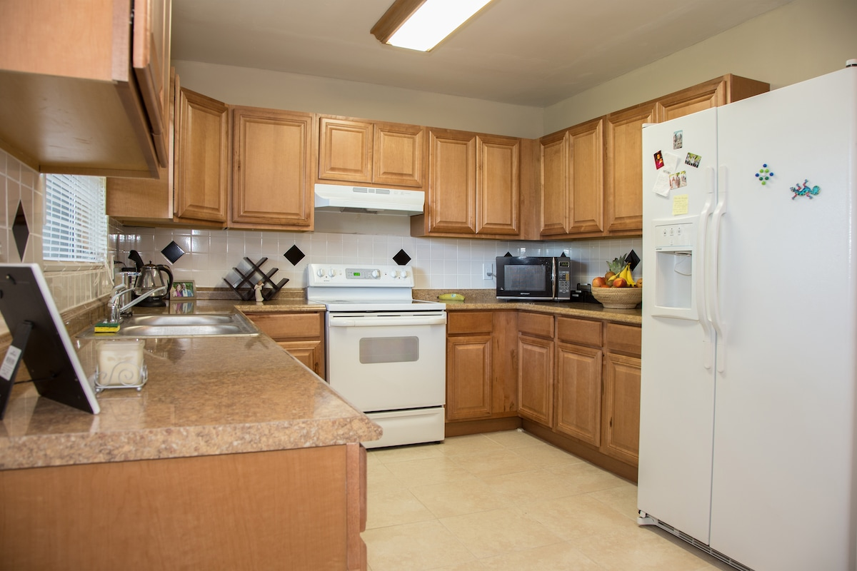 Feel free to use our kitchen to cook your meals