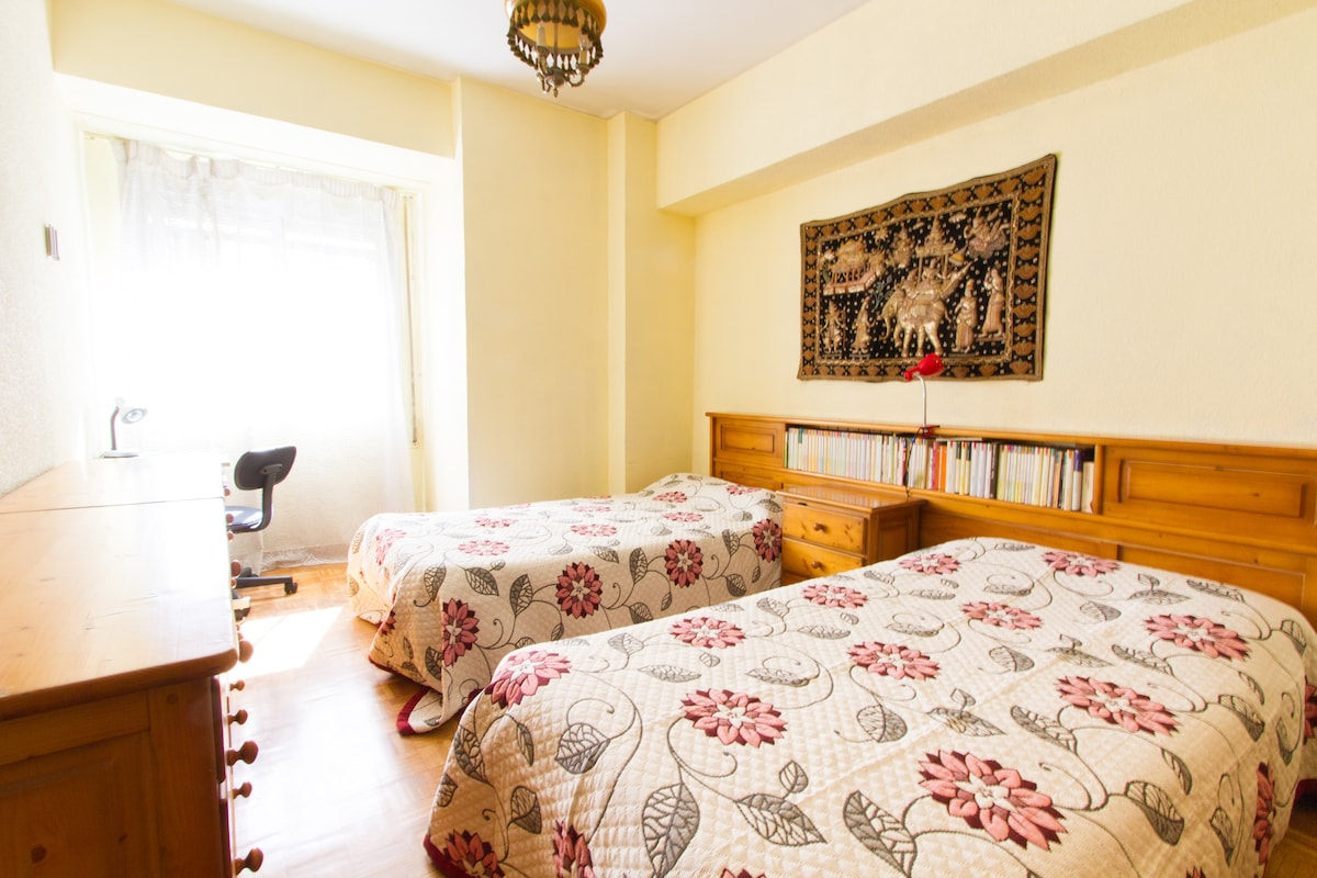 Discover Madrid. Room in the center