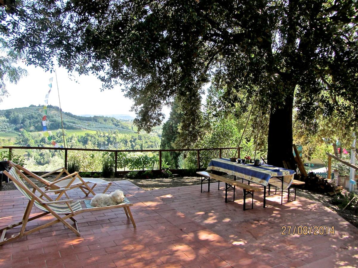 Amazing view on Chianti Hills