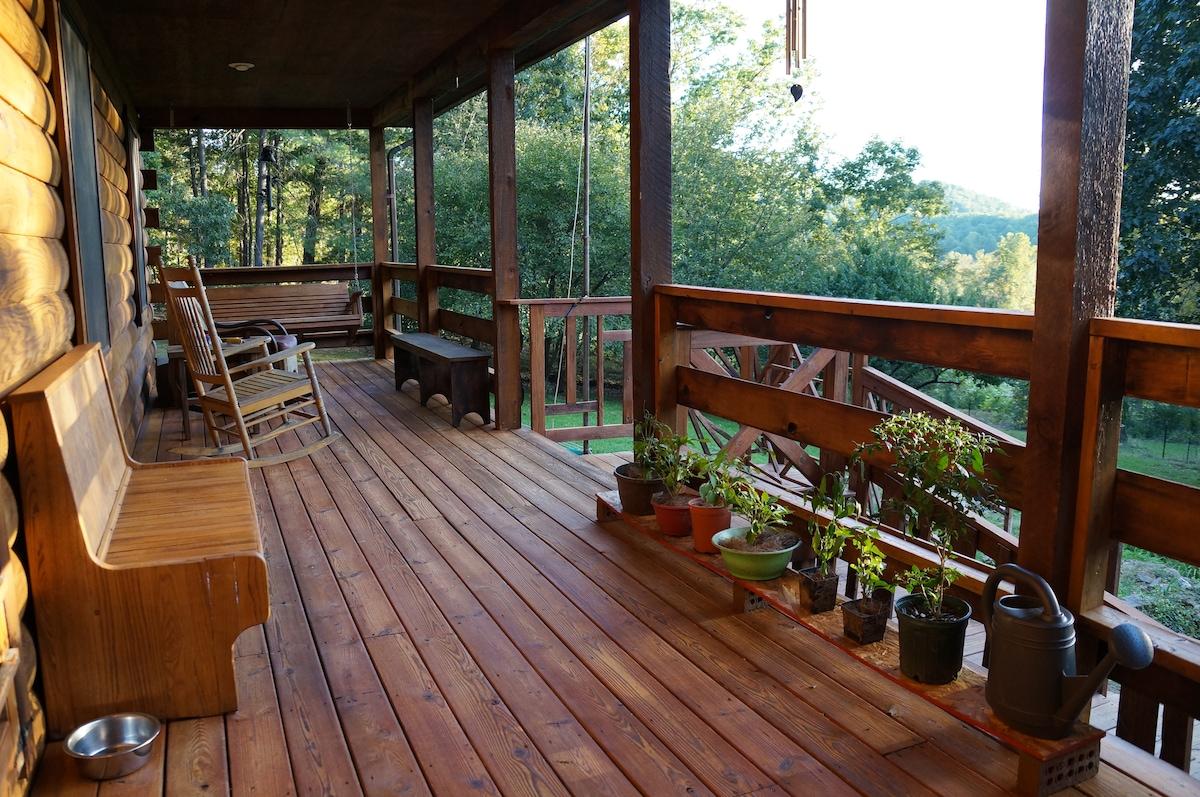 Spacious log cabin/2BR/great views!