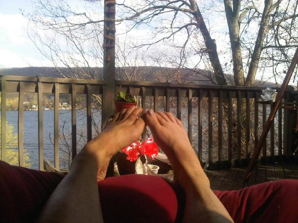 Relaxing to the sights and sounds of Greenwood Lake - the largest lake outside of NYC (9 miles).
