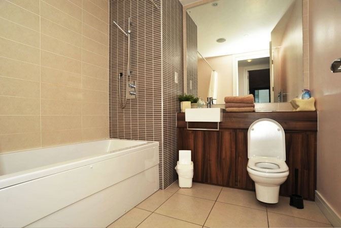 Bathroom with stand up Shower