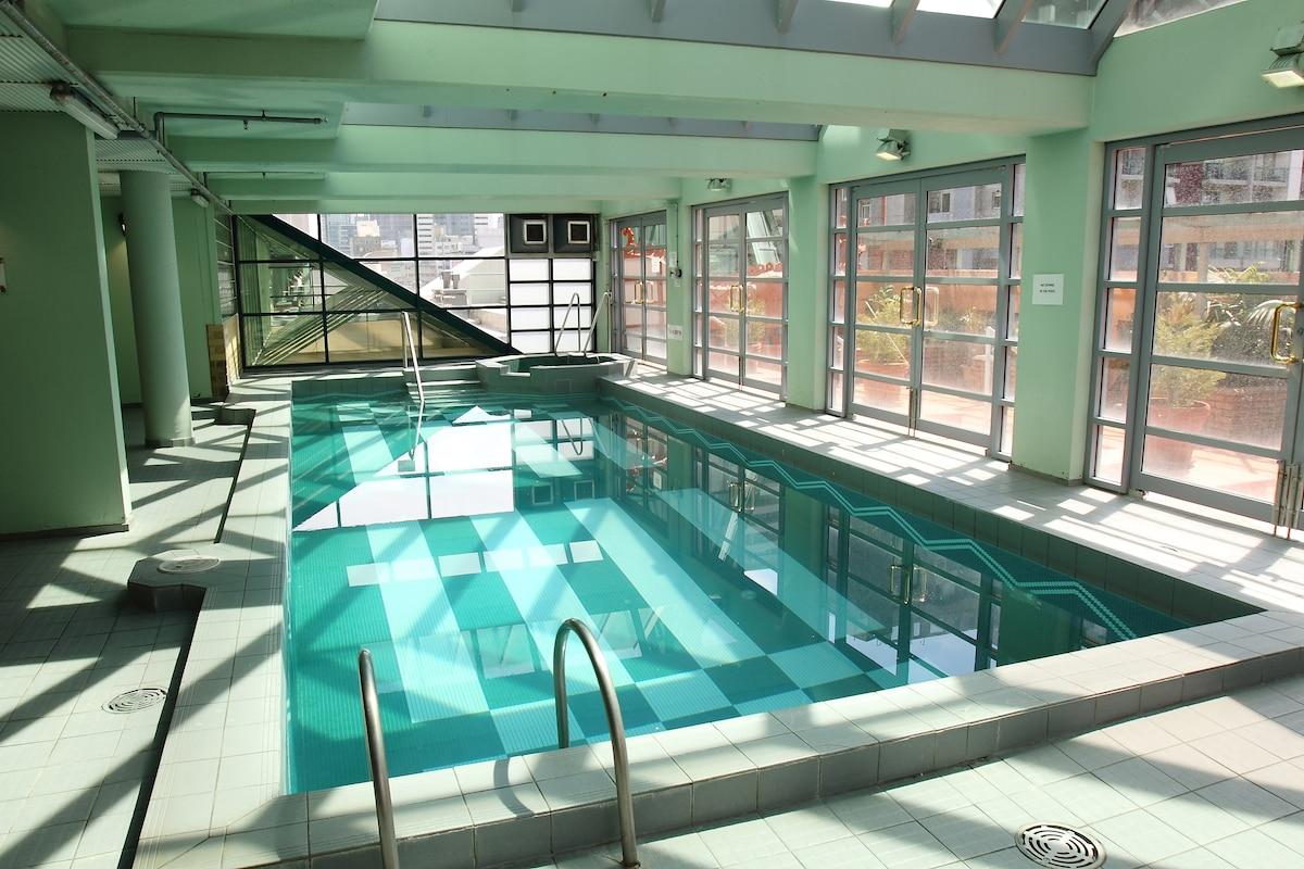 indoor heated pool/spa