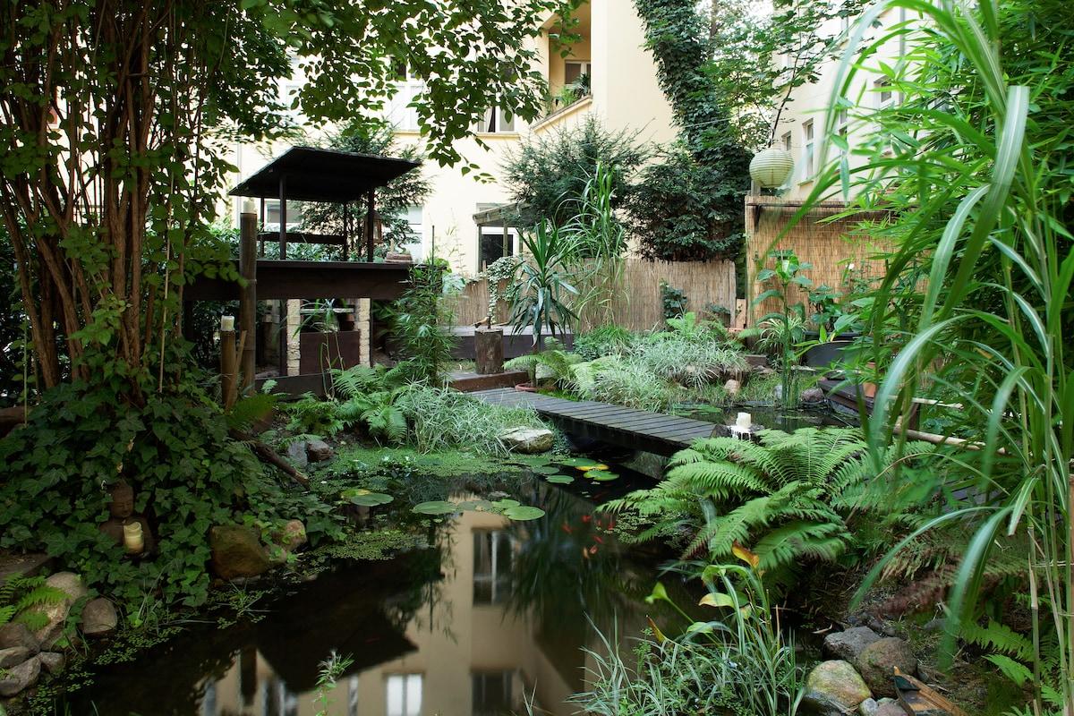 Beautiful flat with terrace&garden