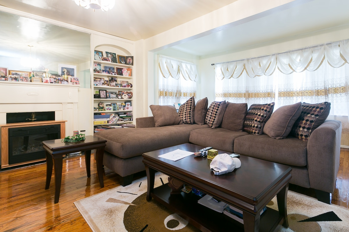 A homey room in Queens, NY