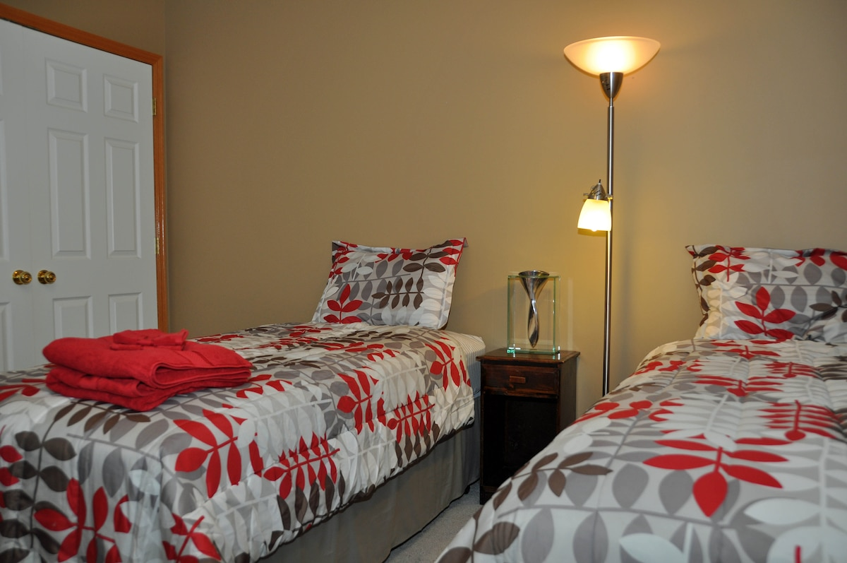 Comfortable upstairs bedroom