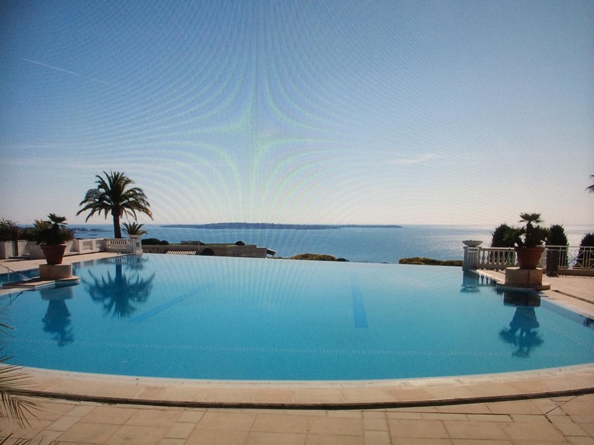 appartement loggia vue mer Cannes