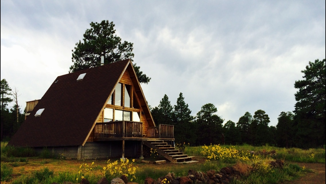 A-Frame Cabin in a National Forest