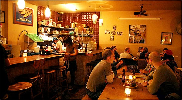 We have some of the best bars and restaurants just blocks from us, this is Beco which is at the other end of our block!