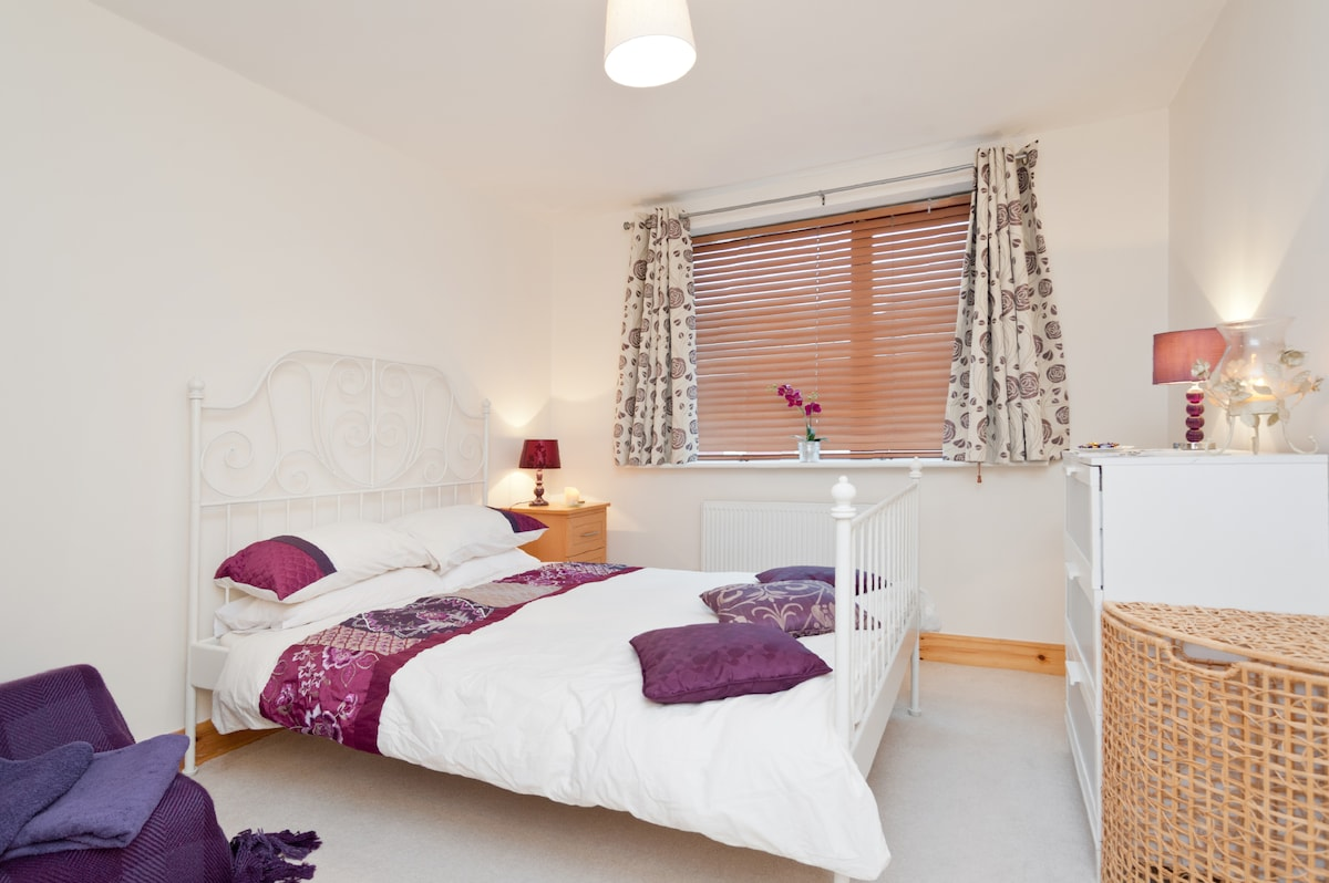 Your spacious double bed room with lots of storage space