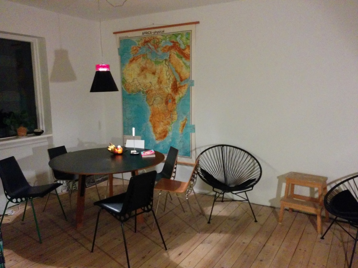 Bright and cosy room by Nørrebro