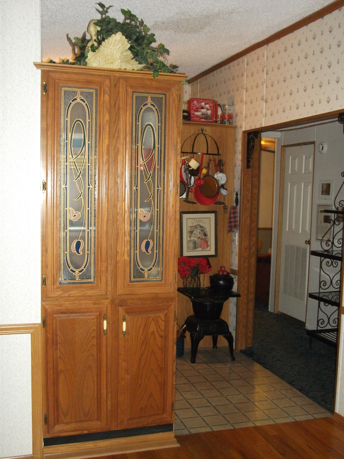 Entrance from Dining Room to Kitchen, Very Eclectic