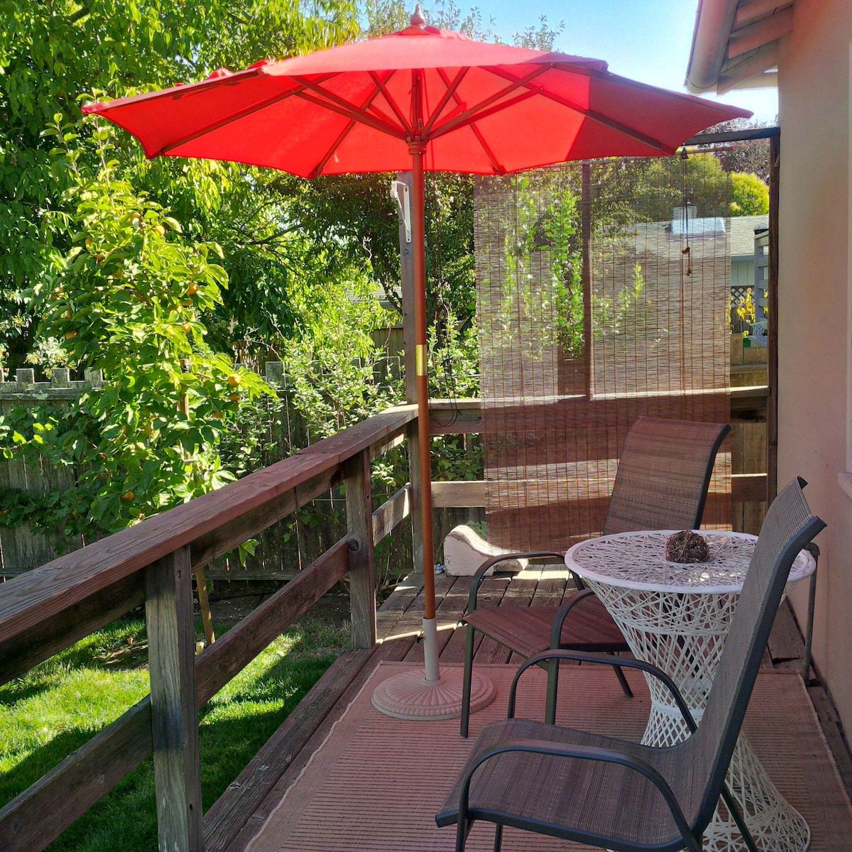 Enjoy morning coffee or day's end wine on your own private deck.