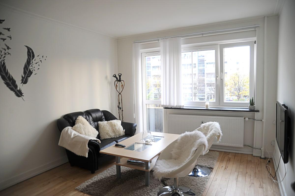 Spacious, stylish 60m2 apartment