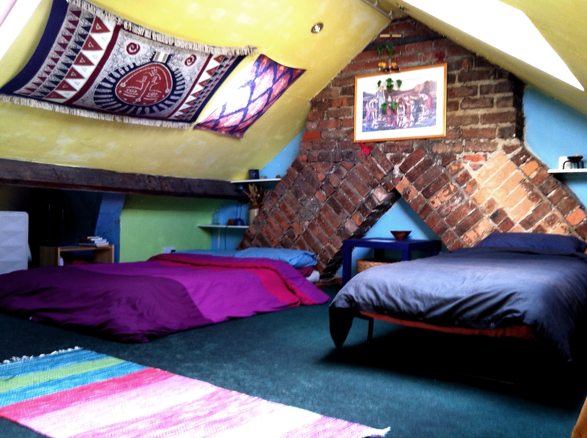 Cardiff central house: attic room.