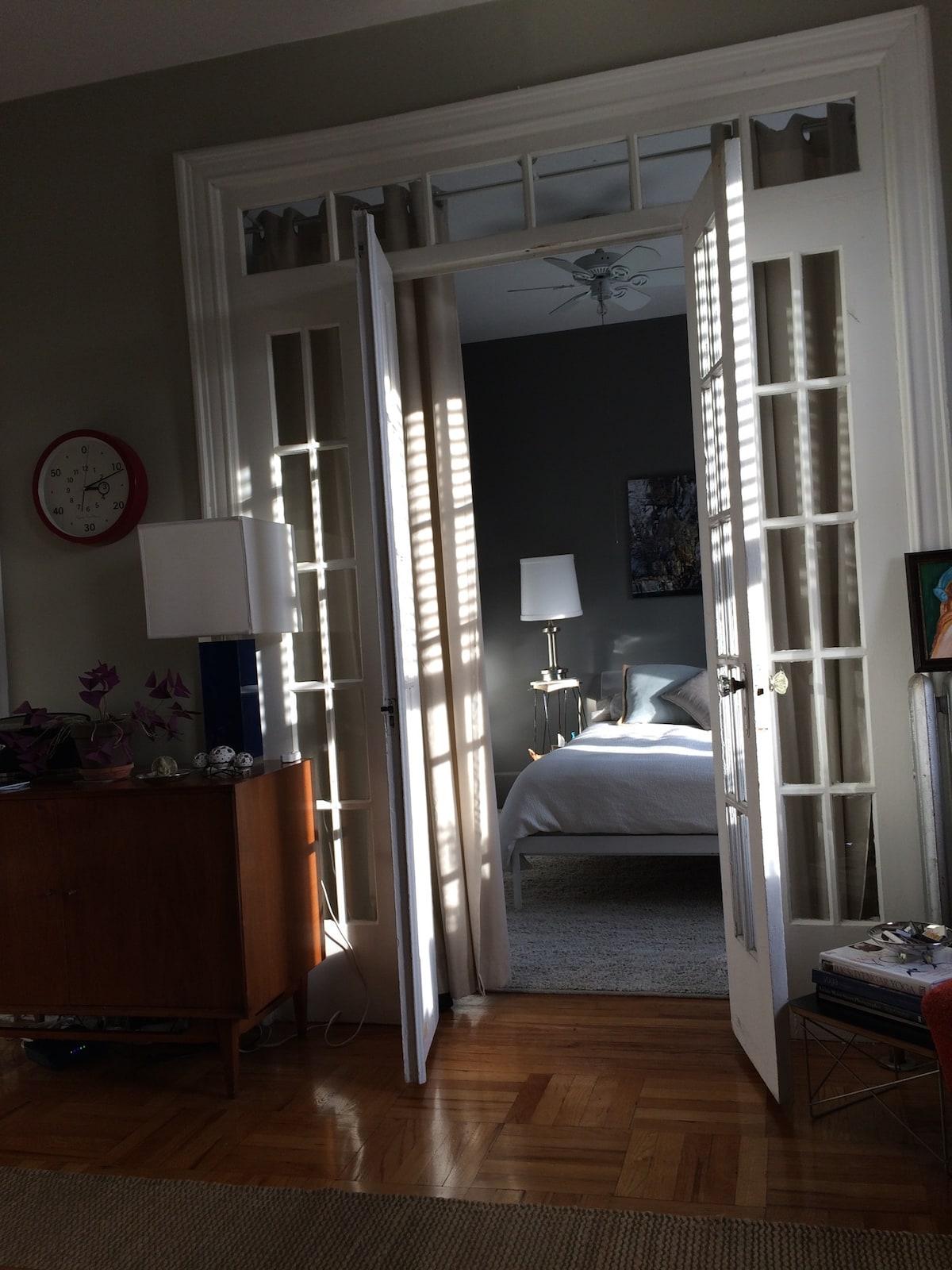 Cozy bedroom awaits you