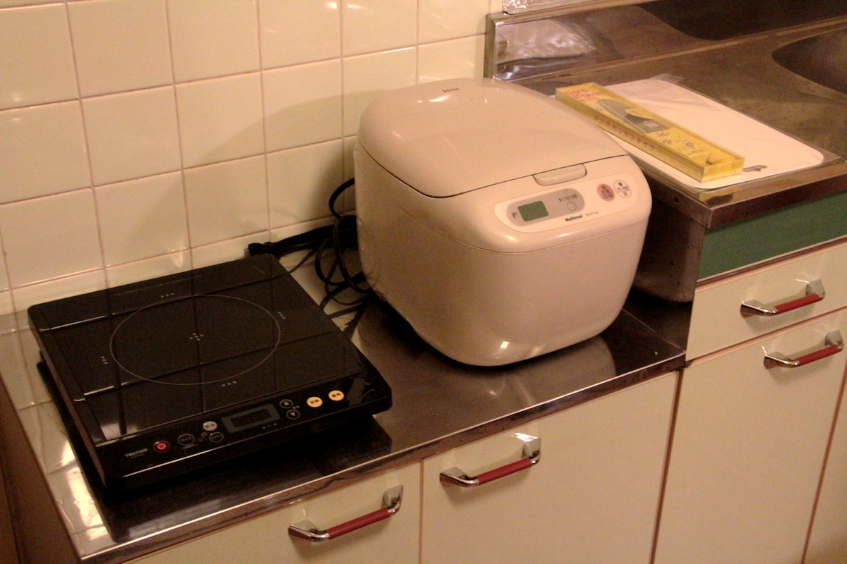 Each room has a Electric oven and Rice cooker.