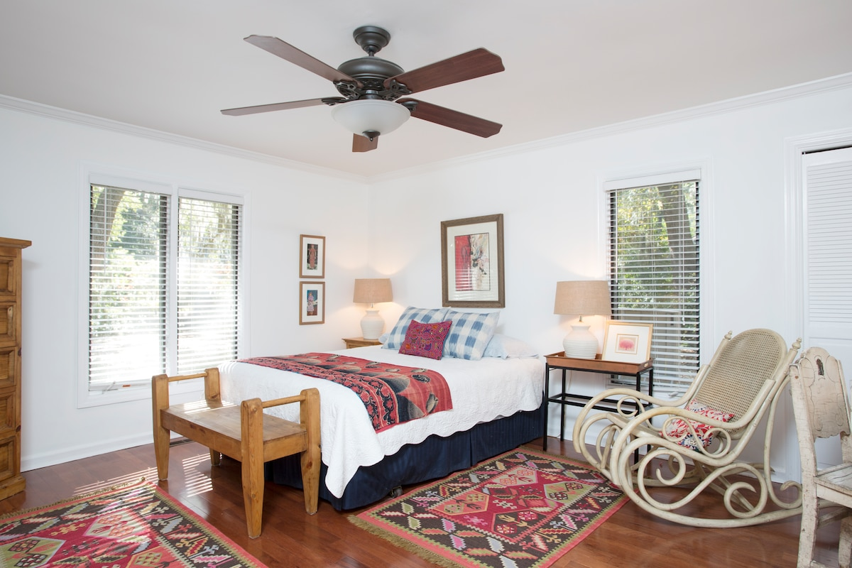 Spacious 200 sq. ft.  bedroom w/lush Lowcountry view