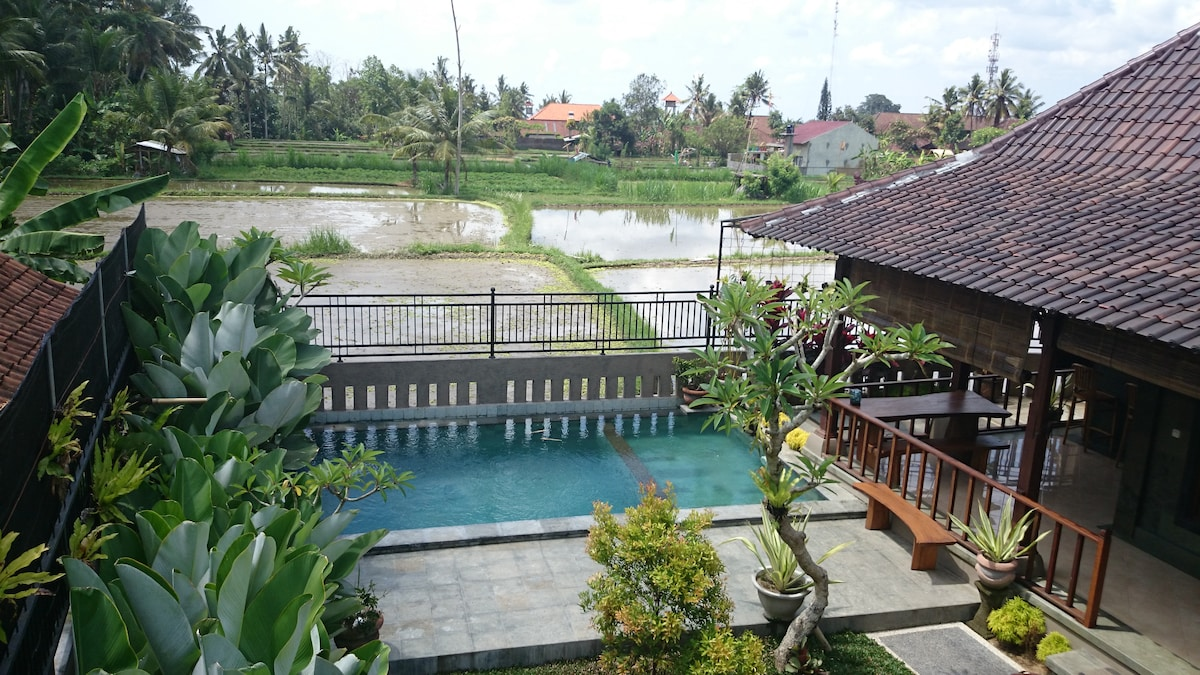 Surya House, 2 bed, Pool&RiceFields