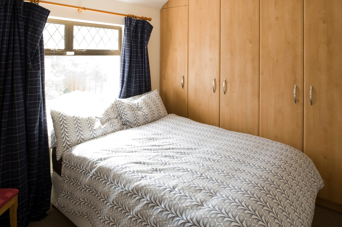 Your private double bedroom. Lots of closet space to unpack and feel at home