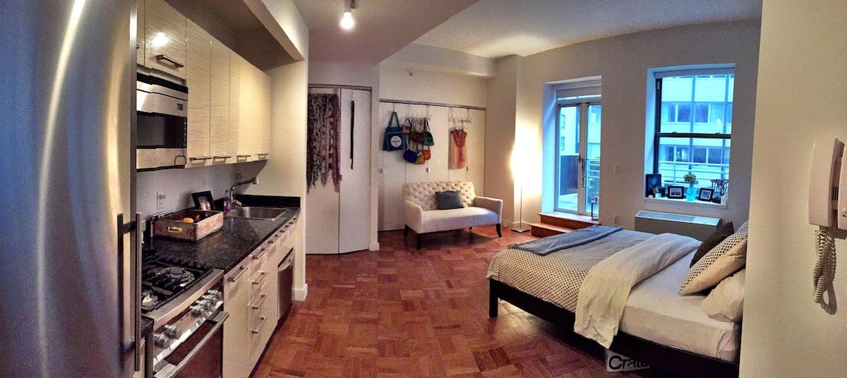 Beautiful FiDi Studio w/ Terrace
